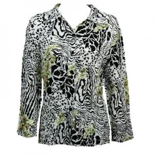Wholesale   Reptile Floral - Green - Plus Size Fits (M-1X)