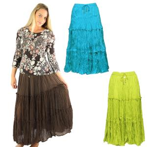 Skirts<br>Cotton Three Tier Broomstick<br>500 & 529
