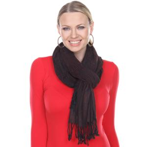 Oblong Scarves<br>Silk Blend Pleated<br>042