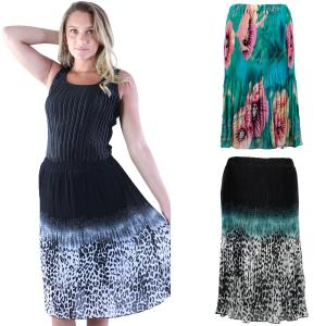 Wholesale Skirts<br>Georgette Micro Pleat<br>Calf Length<br>One Size (S-L)
