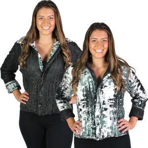 Quilted Reversible Jackets<br>One Size (S-L)<br>Plus Size (XL-2X)