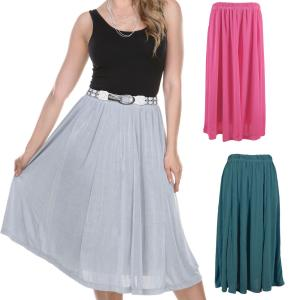 Wholesale Slinky Travel Skirts<br>One Size (S-XXL)