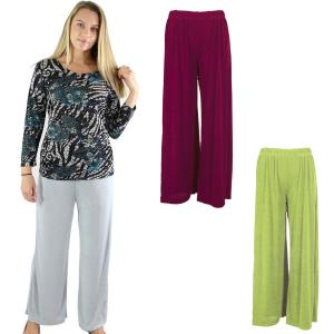 Wholesale Slinky Travel Pants<br>Three Lengths: 25 in, 27 in,<br>& 29 in<br>One Size (S-L)<br>Plus Size (XL-2X)