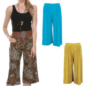 Wholesale Slinky TravelWear Capris<br>One Size (S-L)<br>Plus Size (XL-2X)