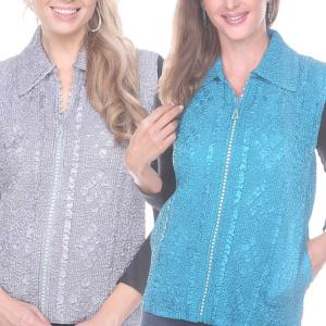 Wholesale Diamond Zipper Vests<br>One Size (S-L)<br>Plus Size (XL-2X)
