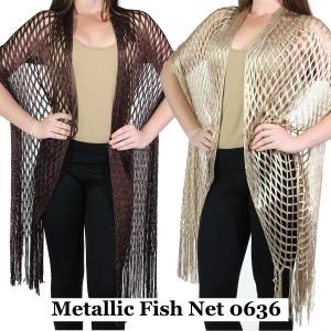 Wholesale Shawls<br>Metallic Fishnet<br>0636