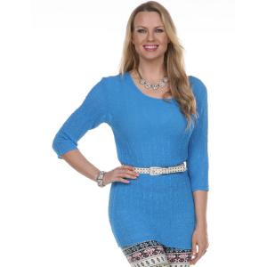 Wholesale Magic Crush Georgette<br>Three Quarter Sleeve Tunic<br>One Size (S-L)<br>Plus Size (XL-2X)