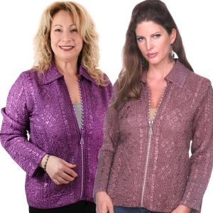 Wholesale Diamond Zipper Jackets<br>One Size (S-L)<br>Plus Size (XL-2X)
