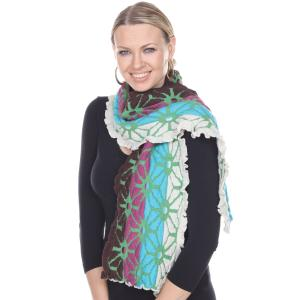 Oblong Scarves<br>Embossed Knit<br>3877