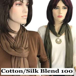 Oblong Scarves<br>Cotton/Silk Blend<br>100