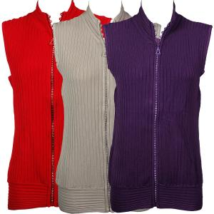 Crystal Zipper<br>Sweater Vest