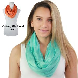 Wholesale Infinity Scarves<br>Cotton/Silk Blend<br>100