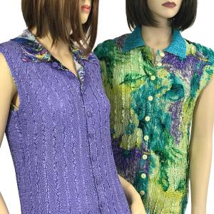 Wholesale Magic Crush<br>Reversible Button<br>Up Vests<br>Two Sizes: S-L & XL-2X