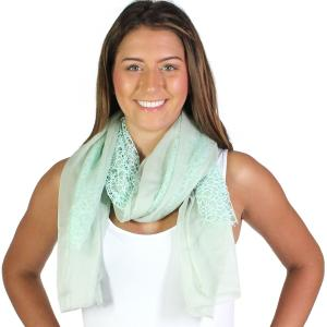 Wholesale Oblong Scarves<br>Crochet Chiffon<br>3165