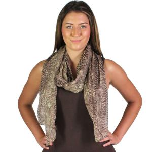 Wholesale Oblong Scarves<br>Snake Skin<br>4117