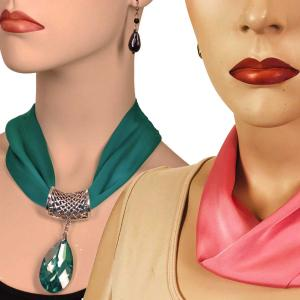 Satin Magnet Necklace with Optional Pendant