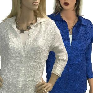 Wholesale Origami Blouse<br>One Size (S-M)<br>or Size (L-XL)