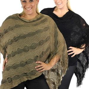 Wholesale Poncho<br>Wave Lattice<br>4321