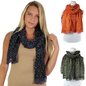 Oblong Scarves<br>Lace Pom Pom<br>4320