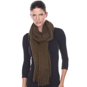 Oblong Scarves<br>Long Plush Knit<br>4328
