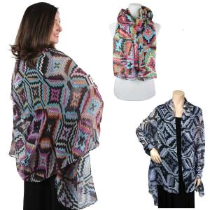Wholesale Big Scarves/Shawls<br>Multi Color<br>026