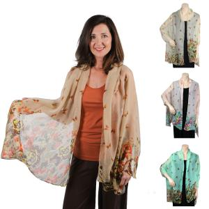 Wholesale Big Scarves/Shawls<br>Butterfly Bottom<br>967