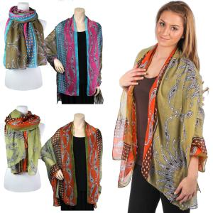 Wholesale Big Scarves/Shawls<br>Barley<br>969