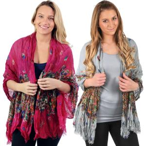 Wholesale Big Scarves/Shawls<br>Crinkle Floral<br>1003