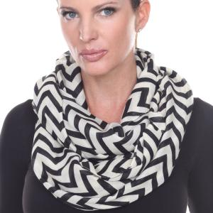 Wholesale Infinity Scarves Wide<br>Zig Zag<br>4377