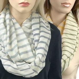 Wholesale Infinity Scarves Wide<br>Multi Color Stripe<br>0830