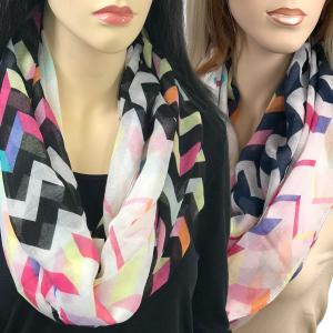 Wholesale Infinity Scarves Wide<br>Modern Chevron<br>3788