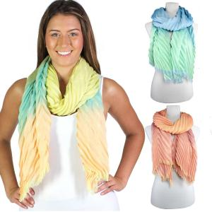 Oblong Scarves<br>Chevron Crinkle<br>4012