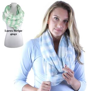 Wholesale Infinity Scarves Wide<br>Lurex Stripe<br>4041