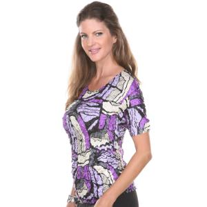 Wholesale Satin Petal Shirts<br>Short Sleeve<br>One Size (S-XL)