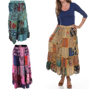 Skirts<br>Patchwork 80122<br>Ankle Length