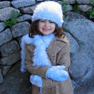 Wholesale Childrens Moa Boa Sets<br>Hat, Scarf, & Mittens