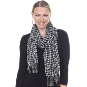 Oblong Scarves<br>Crinkle Plaid<br>1021