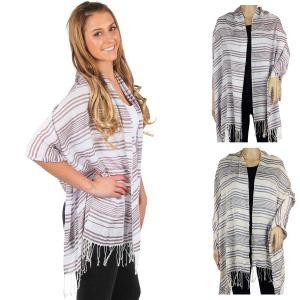 Wholesale Big Scarves/Shawls<br>Multi Stripe<br>1039