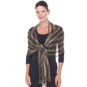 Wholesale Oblong Scarves<br>Metallic Two Tone<br>249x001