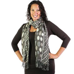 Oblong Scarves<br>Circles & Soft Pleats<br>1001
