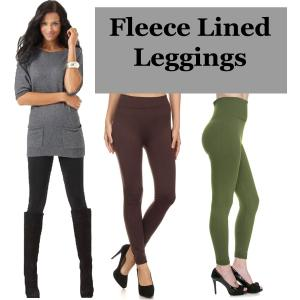 Fleece Lined Leggings<br>Ankle Length<br>Solids