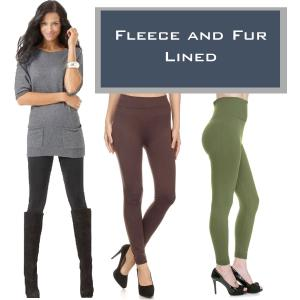 Wholesale Winter Leggings - Fleece and Fur Linings