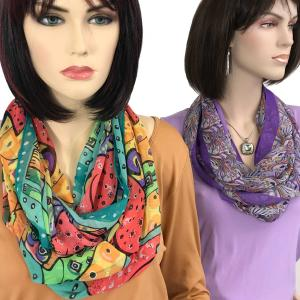 Wholesale Infinity Silky Dress Scarves<br><font color = red><b>NEW COLORS</font></b>