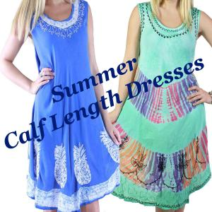 Wholesale Summer<br>Calf Length Dresses