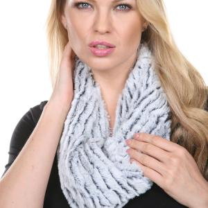Wholesale Infinity Scarves<br>Fur Two-Tone<br>8156