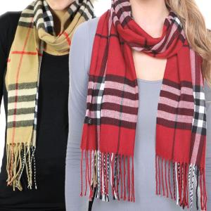 Oblong Scarves<br>Cashmere Feel Plaid<br>1336
