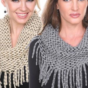 Wholesale Infinity Scarves<br>Chenille Knit<br>7352