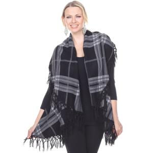 Wholesale Cape Vest<br>Plaid Tasseled<br>PN271