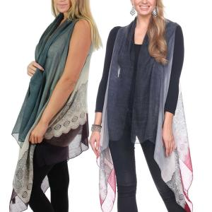 Scarf Vests<br>Gradient Lace Print<br>1262