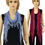 Oblong Scarves - Victorian Lace Confetti
